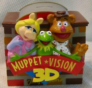 Vintage Muppet Vision 3D Collectible Piggy Bank, Jim Henson, Disney
