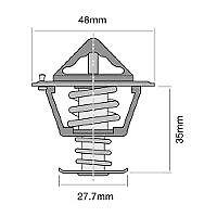 TRIDON Std Thermostat For Toyota Camry SV11 04/83-04/87 2.0L 2S-EC