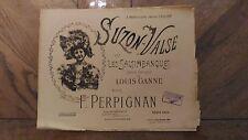 Ancienne Partition De Musique « Suzon-Valse Sur Les Saltimbanques » 1945 En Etat