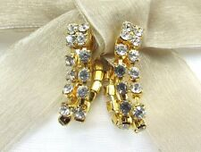 18KGP Dangle Dance Bridal Swarovski Element Austrian Crystal Clip On Earrings