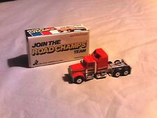 1983 ROAD CHAMPS KENWORTH CONV CAB RED #37 WITH BOX