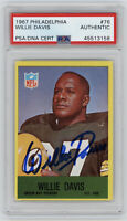 1967 PACKERS Willie Davis signed card Philadelphia #76 AUTO PSA/DNA Slabbed HOF