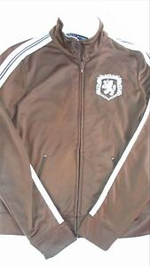 Tommy Hilfiger Track Jacket Womens Small Fitness Lion Crest Fleece Lined Light