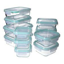 Glas- Frischhaltedosen Set, 4-fach Klick- Deckel, Gefrier-, Brot Dose, Lunchbox