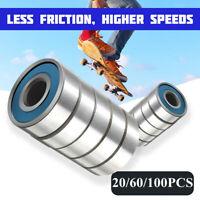 20/60/100pcs Roller Skate Skateboard Ball Wheel Bearing ABEC-9 608 RS US