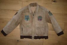 Wisent Leather Flying Bomber Jacket w Badges Gary Pilot size 48 / L