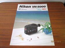 altes Reklame Prospekt - Nikon VN-5000 - wohl 1980er/90er Jahre  /S40