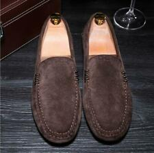 Men's Comfortable Suede Slip On Loafers Driving Casual Moccasin-Shoes Coffee