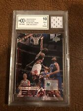1997-1998 Upper Deck Living Legend Michael Jordan BCCG 10 with game-used jersey