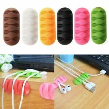 Color Random Cord Organizer Silicone Earphone Cable Winder Wire Storage Holder