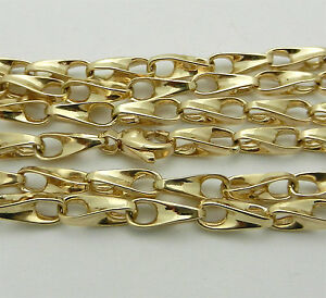"""33.4 grams Solid 14k Yellow Gold Fancy Style Chain Necklace 27.5"""" long HEAVY"""