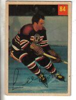 1954-55 Parkhurst Hockey Card #84 Lee Fogolin Chicago Black Hawks EX.