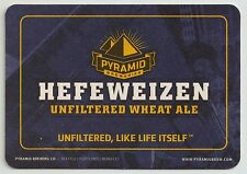 16 Pyramid Hefeweizen Unfiltered Wheat Ale  Beer / Bar Coasters