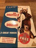 Dr Dolittle & Dr Dolittle 2 VHS Video Cassette Tape Set