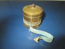 RaRe Brass combo THIMBLE HOLDER wind-up TAPE MEASURE; ANTIQUE 19th Century