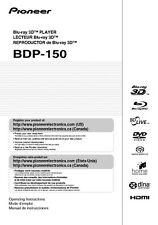 Pioneer BDP-150 Blu-ray Player Owners Manual