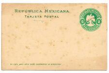 CPA ENTIER POSTAL MEXIQUE MEXICO 2 CENT MUESTRA