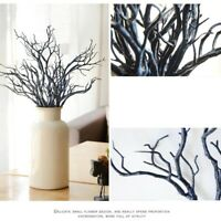 3pcs Artificial Dry Plant Tree Branches Stem Fake Foliage Green Party Home Decor