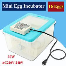 16 Eggs AC 220V-240V Automatic Chicken Poultry Chicks Incubator Hatcher Mini New