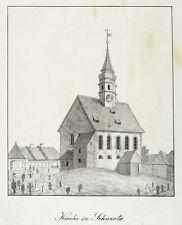 SCHWERTA / SWIECIE (LÉSNA) - DORFKIRCHE - Lithografie 1839