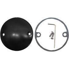 Flat Black 2 Hole Spherical Radius Points Ignition Cover Harley EVO & XL