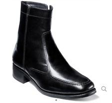 Florsheim Men's Essex Moc Toe Zipper Boots, Black, 8 D