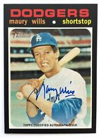 MAURY WILLS 2020 Topps Heritage High Number Real One Autograph #ROA-MW Dodgers