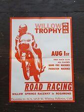 ORIGINAL VINTAGE  MOTORCYCLE RACING POSTER  1960s!