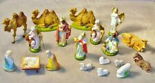 Vtg Nativity Set Fontanini Italy Hand Painted Paper Mache-Other Figurines-19 Pc