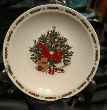 Ten Strawberry Street O Christmas Tree Holiday 1987  7 1/4 - inch Salad Plate