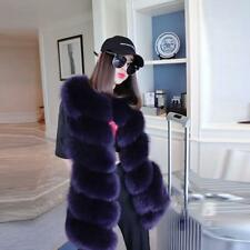 Womens Ladies Sleeveless Faux Fur Coat Gilet Vest Waistcoat Long Shrug Jacket LG