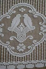 VINTAGE COLOMBE BOLLINO COTONE CAFE Curtain NOTTINGHAM PIZZO VALANCE bris-bise artigianato in