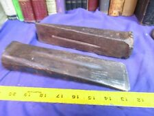 steel wood splitting wedge firewood log 4. lbs tool forestry LOT 2 vintage