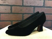 "Dolce by Pierre womens size 8.5N  3"" heels black suede leather"