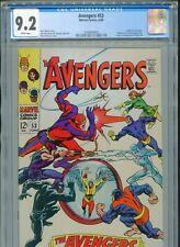 1968 MARVEL AVENGERS #53 X-MEN VS. AVENGERS CGC 9.2 WHITE BOX13