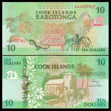 Cook Islands 1992 year 10 dollars BrandNew Banknotes