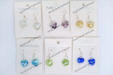 wholesale lots 6pair Jewelry Charm heart murano glass bead earring FREE