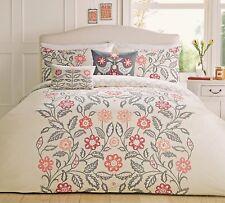 Dreams and Drapes Reversible Panel Montague Floral Print Double Duvet Cover Set