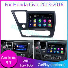 For Honda Civic Saloon 2013-2016 Android 9.1 Car Radio GPS Navigation DVD Player