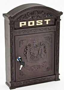 Wall Mounted Rustic Post Box wall letters mailbox Antique Cast Effect