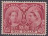 Canada 1897 Jubilee MNH $1 Lake SUPERB CENTRE