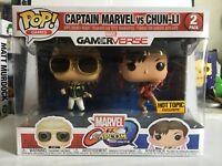 Funko POP! Marvel v Capcom 2-Pack CAPTAIN MARVEL VS CHUN-LI Hot Topic Exclusive!