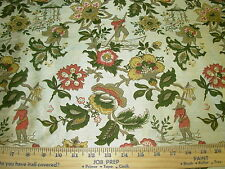 "~7 YDS~J SMITH~SILK~CHINOISERIE""CHINESE FISHERMAN""~UPHOLSTERY FABRIC FOR LESS~"