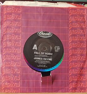 """James Reyne – Fall Of Rome - 1987 7"""" single 45rpm excellent"""