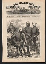 1873 CIVIL WAR IN SPAIN DON CARLOS AND HIS STAFF MILITARY UNIFORMS SWORDS