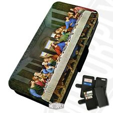 Printed Faux Leather Flip Phone Case For Huawei - The Last Supper - Da Vinci