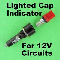 RARE Indicating Panel Fuse Holder Cap Lights when Fuse Blows 12V Bulb Indicator