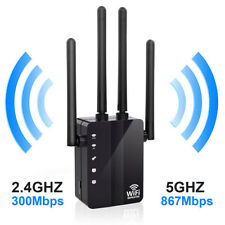 1200Mbps Dual Band Wireless Range Extender WiFi Repeater Router 4 Antenna 2.4/5G