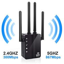 1200 Mbps Doble Banda Inalámbrico Range Extender Repetidor de Wifi Router 4 Antena 2.4/5G