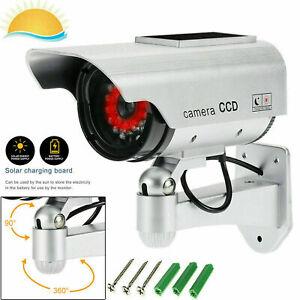 Dummy Security Camera - SOLAR FAKE CCTV CAMERA RED LED POWER LIGHTS